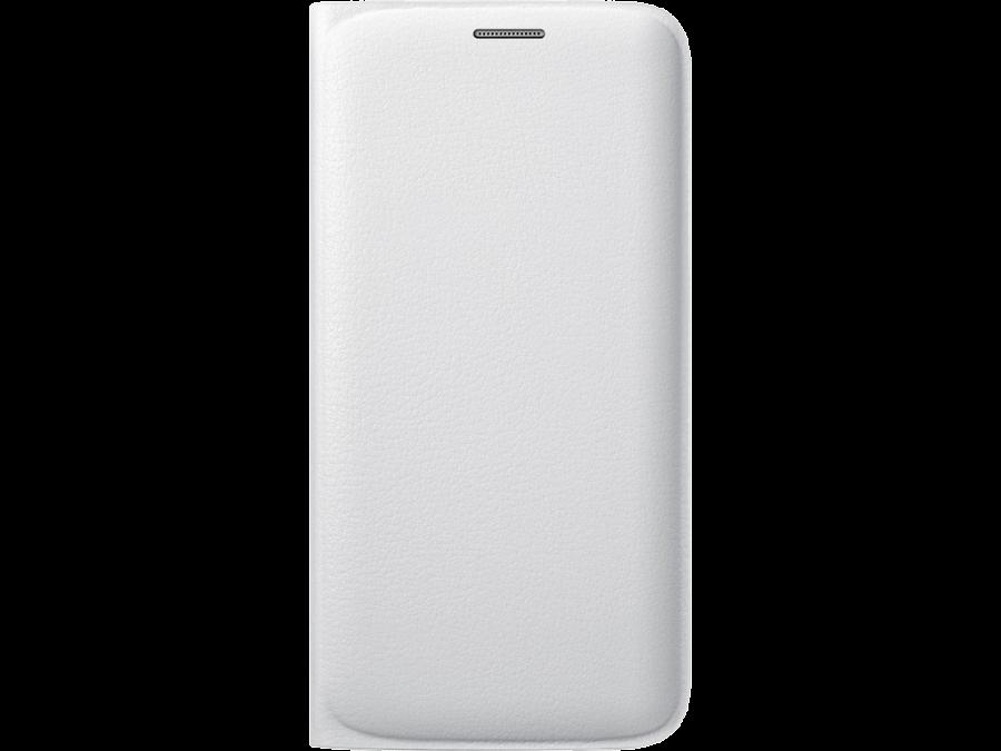 Чехол-книжка Samsung EF-WG925PWE для Galaxy S6 Edge, поликарбонат / полиуретан, белый