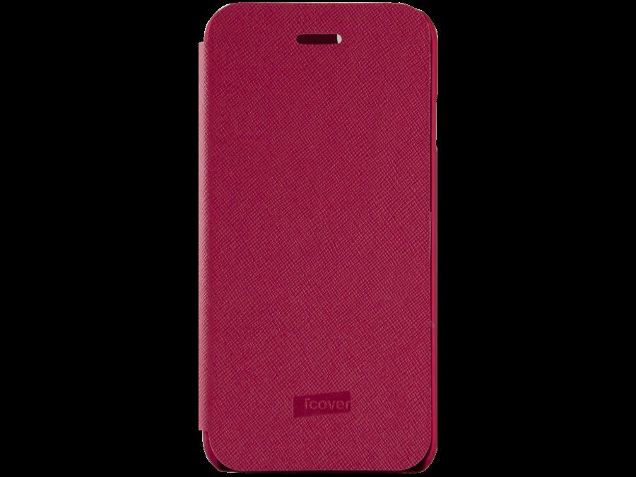 Чехол-книжка iCover Carbio для Apple iPhone 6, кожзам / пластик, красный