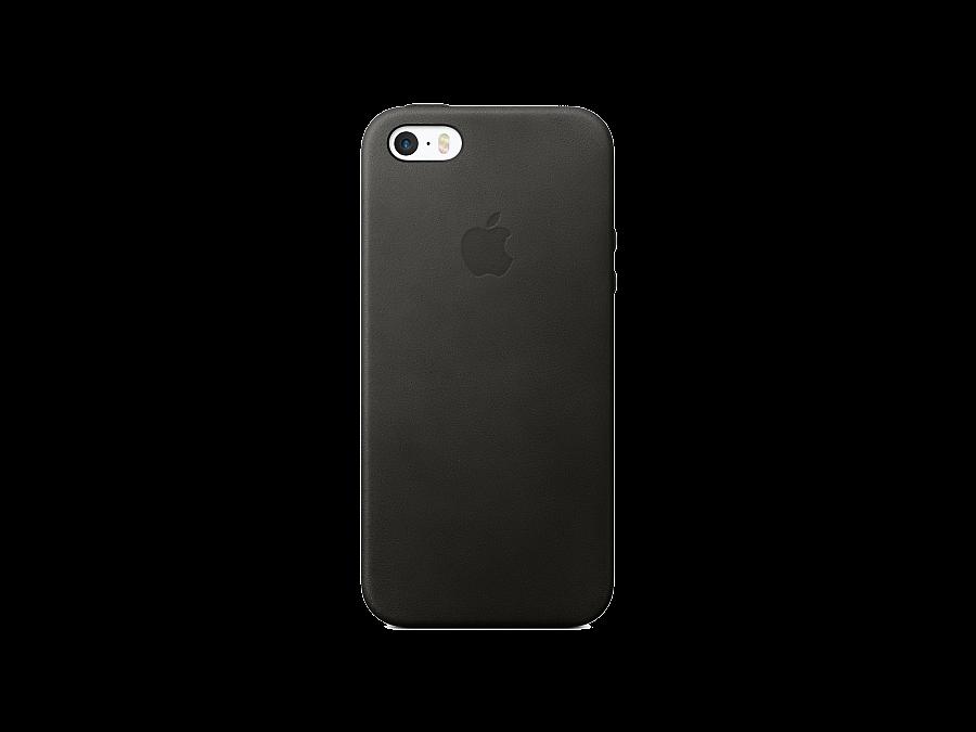 Чехол-крышка Apple для Apple iPhone SE, кожа, черный